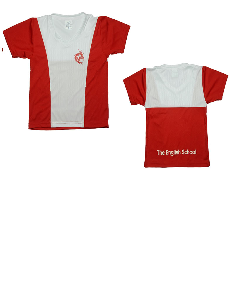 Uniforme The English School T-Shirt Dragon Niño Roja