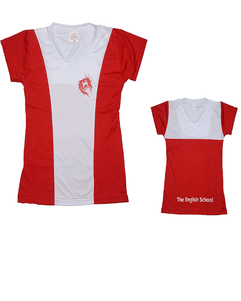 Uniforme The English School T-Shirt Dragon Niña Roja