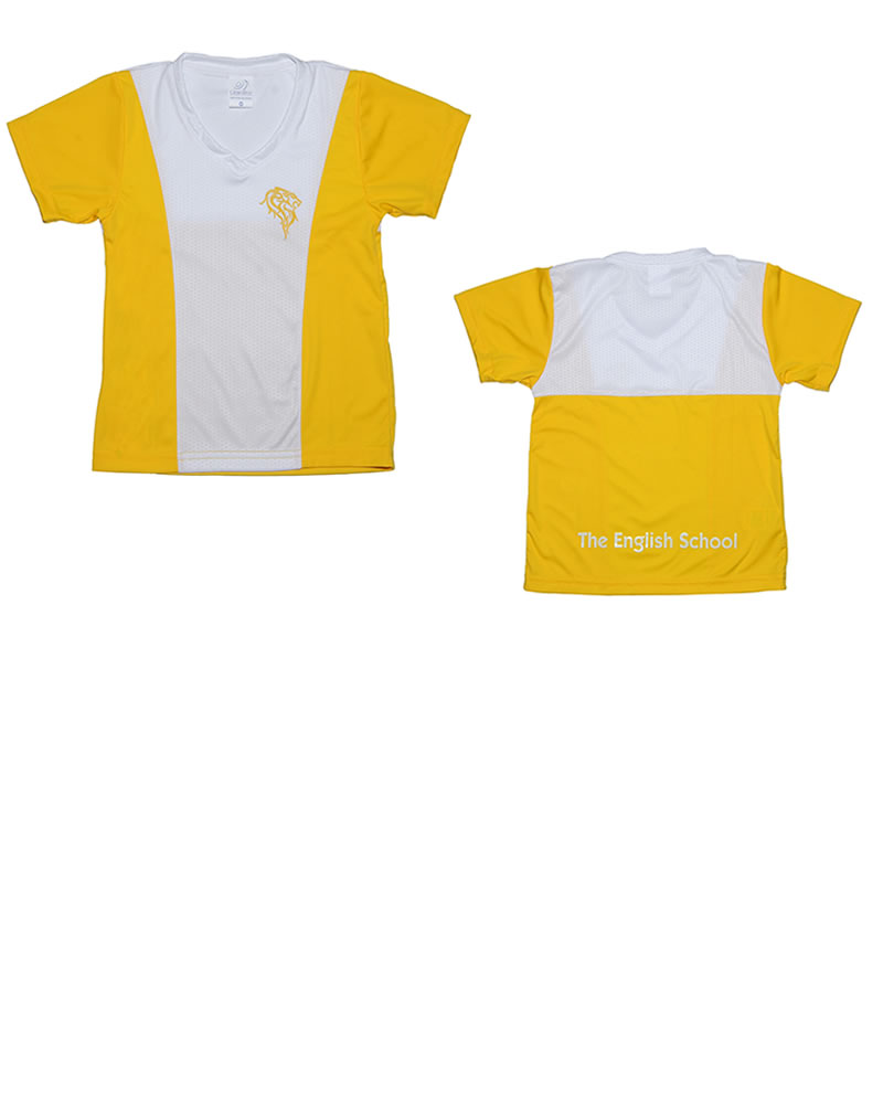 Uniforme The English School T-Shirt Lion Niño Amarilla