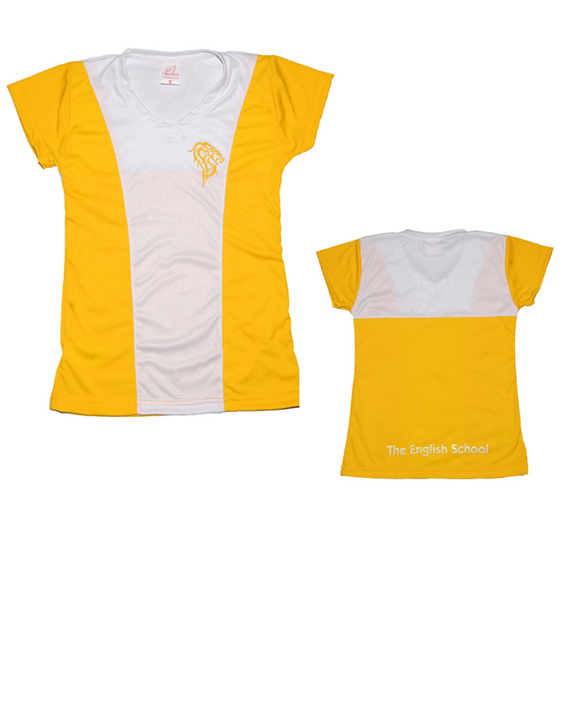 Uniforme The English School T-Shirt Lion Niña Amarilla