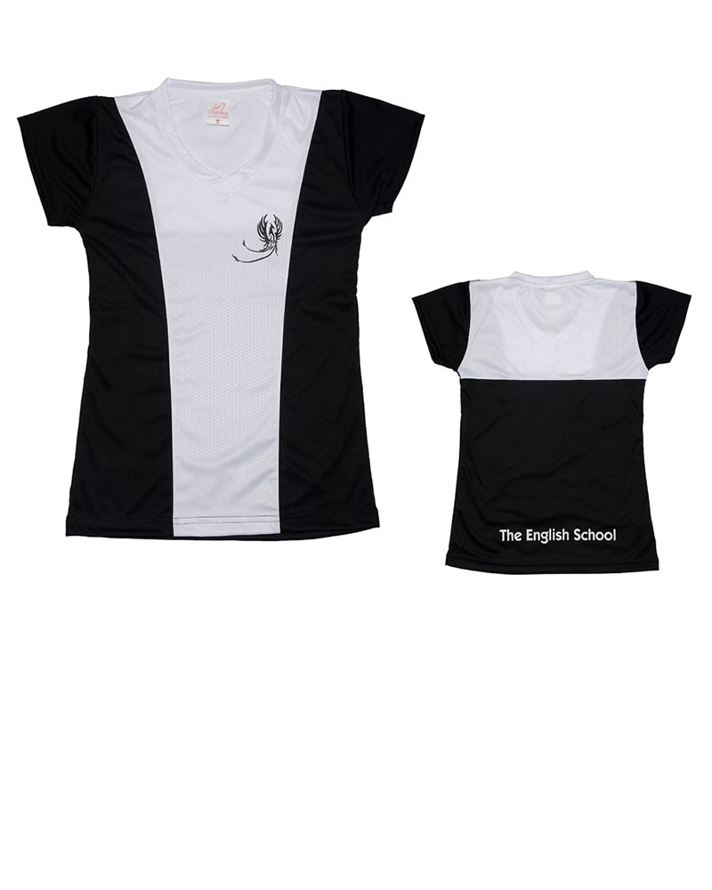 Uniforme The English School T-Shirt Phoenix Niña Negra