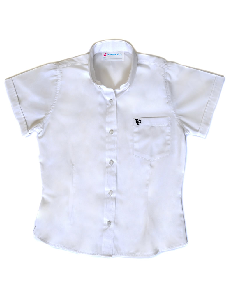 Uniforme The English School Camisa Oxford Manga Corta Niña