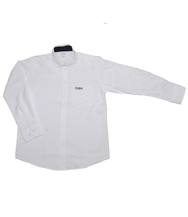 Uniforme The English School Camisa Oxford Manga Larga Niño