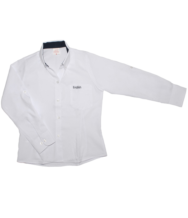 Uniforme The English School Camisa Oxford Manga Larga Niña